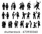 happy couple and lover.... | Shutterstock .eps vector #673930360