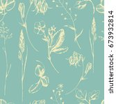 vector seamless pattern with... | Shutterstock .eps vector #673932814