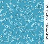floral seamless texture ... | Shutterstock .eps vector #673934164