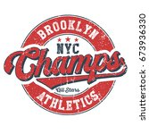 brooklyn athletics champs... | Shutterstock .eps vector #673936330