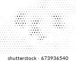 abstract halftone dotted... | Shutterstock .eps vector #673936540