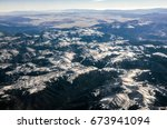 aerial view of the rocky... | Shutterstock . vector #673941094