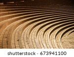the curling steps at the... | Shutterstock . vector #673941100