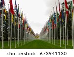 the nations of flags and the... | Shutterstock . vector #673941130