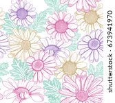 seamless floral pattern with... | Shutterstock .eps vector #673941970