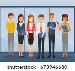 group of business man and... | Shutterstock .eps vector #673946680