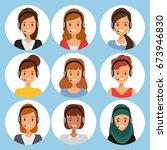 call center people team work.... | Shutterstock .eps vector #673946830