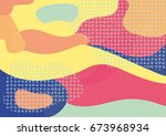creative geometric colorful... | Shutterstock .eps vector #673968934