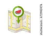 pin location map vector  marker ... | Shutterstock .eps vector #673982476