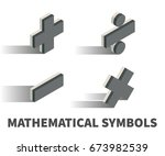 mathematical symbols icon ... | Shutterstock .eps vector #673982539
