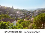 traditional houses of sirince... | Shutterstock . vector #673986424