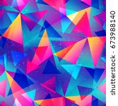 rainbow color triangle seamless ... | Shutterstock .eps vector #673988140