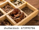 Assorted Dried Herbs In A...