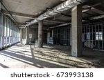 abandoned building construction ... | Shutterstock . vector #673993138