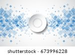 abstract technology background. ... | Shutterstock .eps vector #673996228