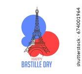 happy bastille day poster... | Shutterstock .eps vector #674001964