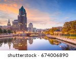 downtown skyline with buildings ... | Shutterstock . vector #674006890