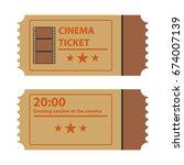 retro movie ticket  movie... | Shutterstock .eps vector #674007139