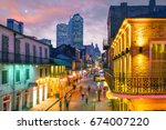 pubs and bars with neon lights... | Shutterstock . vector #674007220