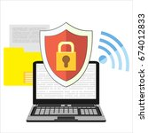 internet security and data... | Shutterstock . vector #674012833