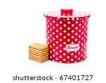 Colourful Biscuit Tin With...