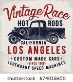 vintage pick up illustration ... | Shutterstock .eps vector #674018650
