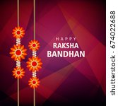 happy raksha bandhan  beautiful ... | Shutterstock .eps vector #674022688