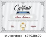 certificate of achievement... | Shutterstock .eps vector #674028670