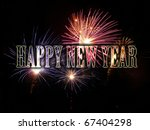 fireworks celebrating new year. | Shutterstock . vector #67404298