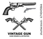gun revolver. handgun  six... | Shutterstock .eps vector #674045866