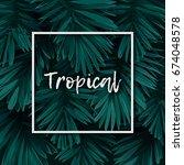 dark green minimalistic vector... | Shutterstock .eps vector #674048578