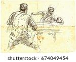 an hand drawn illustration ...   Shutterstock .eps vector #674049454