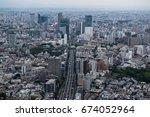 aerial view of the skyline of... | Shutterstock . vector #674052964