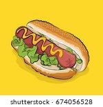 hot dog vector | Shutterstock .eps vector #674056528