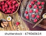 homemade traditional sweet... | Shutterstock . vector #674060614