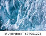 Ice Textured Wall Background I...
