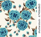 Seamless Pattern In Small Cute...