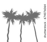 Palm Tree Black Silhouette...