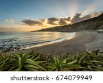 Azores Beach At Sunset