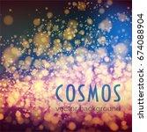 cosmos. space vector background ... | Shutterstock .eps vector #674088904