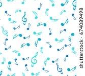 music seamless pattern... | Shutterstock .eps vector #674089498