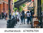 london  uk   september 8  2016  ... | Shutterstock . vector #674096704