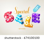 special sale banner  3d letters ... | Shutterstock .eps vector #674100100