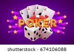 poker label  casino banner... | Shutterstock .eps vector #674106088