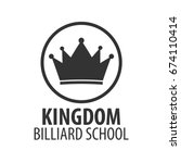 logo for billiard school  club...   Shutterstock .eps vector #674110414