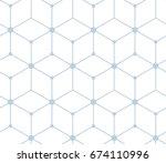 seamless pattern abstract... | Shutterstock .eps vector #674110996