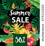 summer sale design | Shutterstock .eps vector #674111020