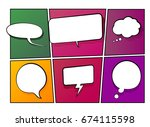 vector illustration of speech... | Shutterstock .eps vector #674115598