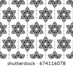 ancient thai pattern  thai... | Shutterstock .eps vector #674116078