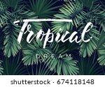 summer tropical design for... | Shutterstock . vector #674118148